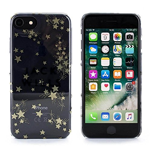 Jack Wills Highly Potective Glossy Stylish Hard Shell for iPhone 6/7 - Gold (Star Print)