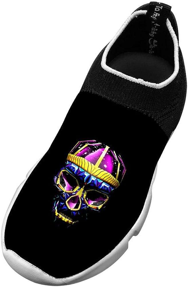 XieZbd Kids Skull Wallpapers Fashion Fly Knit Sneaker Shoes