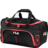 Cheap Fila Fastpace Small Sports Duffel Bag Gym, Black/Red, One Size