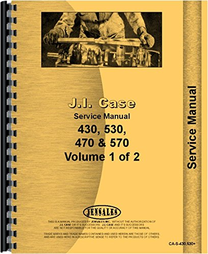 Case 430 530 570 Gas Diesel Construction King Tractor Service Manual (CA-S-430,530+) PDF