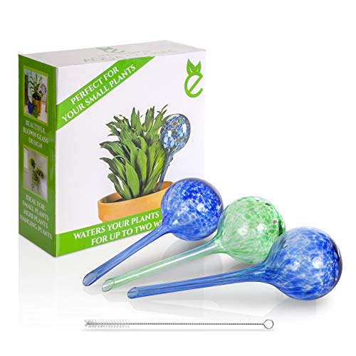 Eden Essences Plant Watering Globes, Plant Watering Devices, Self Watering Bulbs, Aqua Globes for Plants, Water Plants When Away