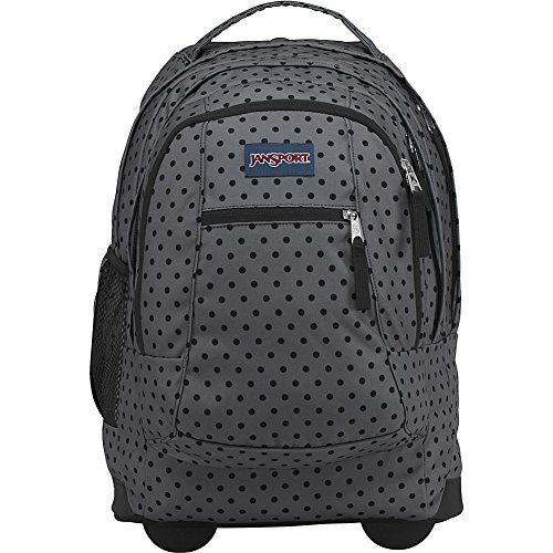 JanSport Driver 8 Rolling Backpack (Black Dot-O-Rama) by JanSport