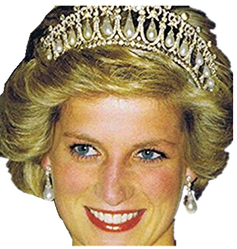 Diana Pearl - Kingde Wedding Bridal Crystal Pearl Headband Diana Crown Tiara Hair Accessories