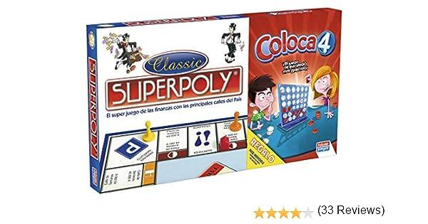 Falomir Superpoly + Coloca 4, Juego de Mesa, Clásicos, Multicolor (646385): Amazon.es: Juguetes y juegos