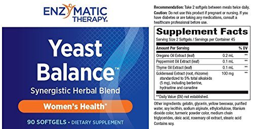 Enzymatic Therapy Yeast BalanceTM 90 softgels ( Multi-Pack)