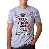Keep Calm and Kill Zombies Mock Propoganda T-Shirt S