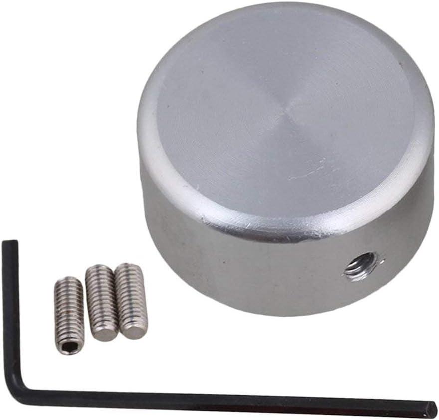 CUHAWUDBA Botones De Pedal Gorra De Guitarra De Efecto Con Tornillo En Aleación De Aluminio - Plata