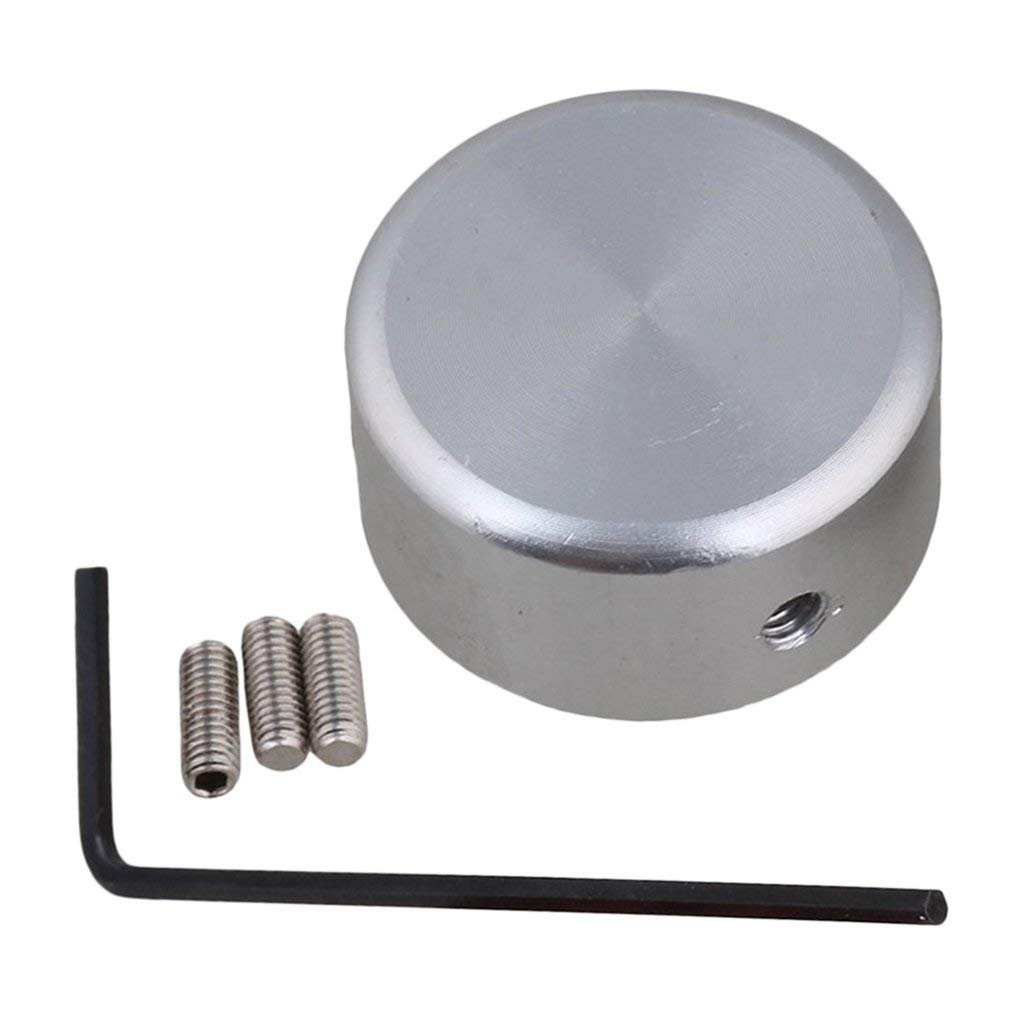 TOOGOO Pedal buttons Effects Guitar Cap with Screw in Aluminum Alloy Silver