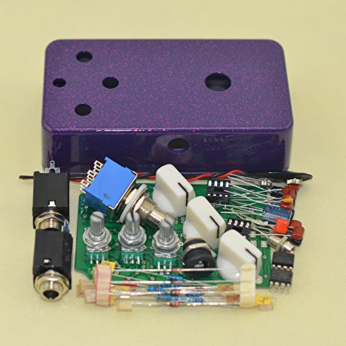 DIY Fuzz Pedal Kits with 1590B Diecast Aluminum Enclosure Flash Purple