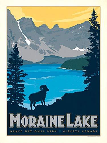 Amazon Com American Vinyl Vintage Art Moraine Lake Banff