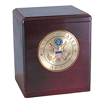 Wood Cremation Urn – Rosewood Freedom Military Navy