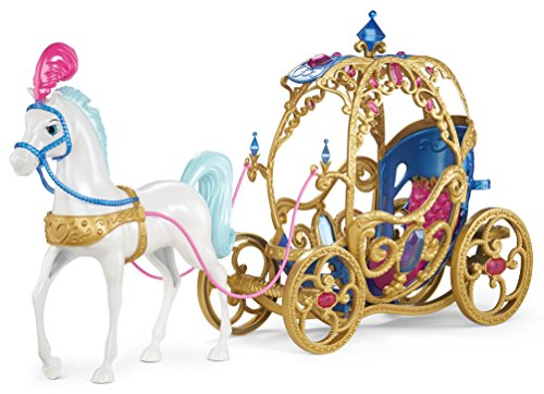 51NMzvY9ZvL - Mattel Disney Princess Cinderella Horse and Carriage(Discontinued by manufacturer)