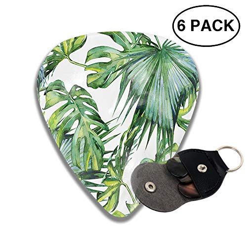 Celluloid Guitar Picks 3D Printed Tropical Rain Forest Fresh Green Banana Leaf Best Guitar Bass Gift For Student