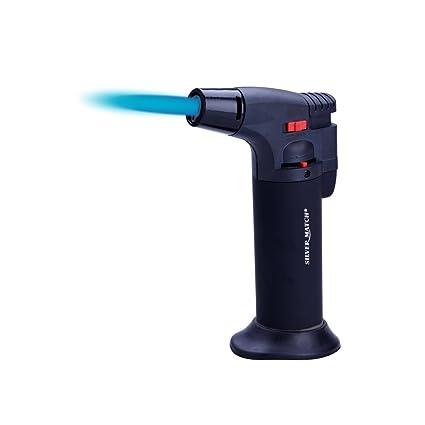 SILVER MATCH - Linterna de gas de diseño, llama ajustable ...