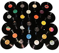 "Randomly chosen, mixed lot of 12"" (33 speed) vinyl records from various years and genres. These genuine vinyl records can be used to craft decorations, artwork, guitar picks, home or store decor items and such, or just to hang to give ..."