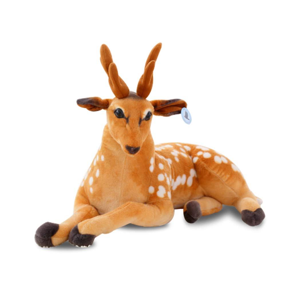 Reducción de precio Toy Muñeco de Peluche de Ciervo Sika, simulación Jirafa muñeco de Peluche muñeca Linda, Regalo de cumpleaños, decoración del árbol de Navidad del Coche de casa ZDDAB