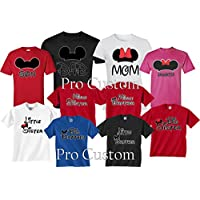 Mickey DAD Minnie Mom Disney FAMILY Vacation Matching Tshirts
