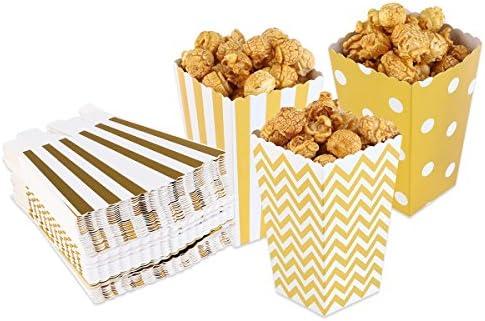 ULTNICE Cajas para Palomitas de Maíz 50pcs (oro): Amazon.es: Hogar