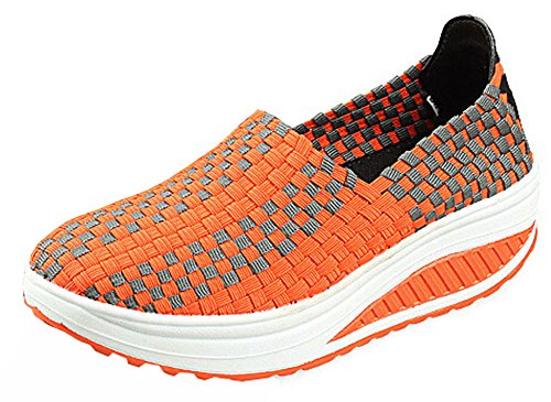 Sneakers Women's Wedges Sport Shoes Women for Fashion Orange Sneakers Shoes Running Swing Summer wRxSfEq5