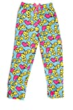 Emoji Pants for Kids Just Love Cute Character Plush Pajama Pants for Girls - Fleece PJs, Emoji Heart, Girls' 7-8