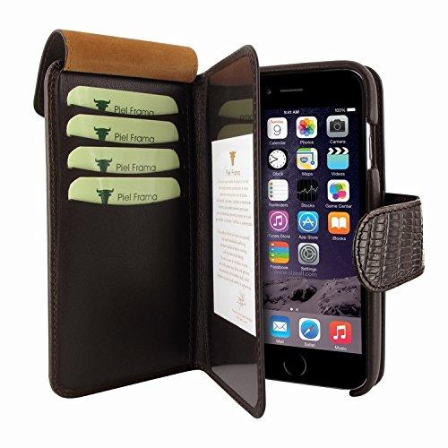 Piel Frama 717 Brown Lizard WalletMagnum Leather Case for Apple iPhone 6 Plus / 6S Plus by Piel Frama (Image #4)