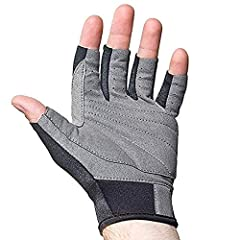 Vented and padded synthetic leather palm, wrist fastener, great multi sport glove