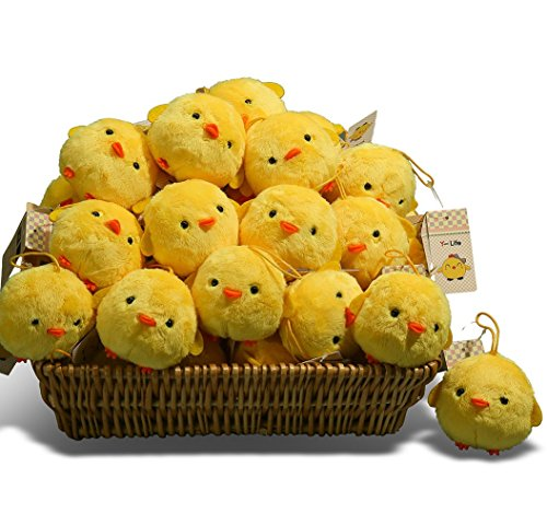 Cute Yellow Chick String Hanger Plush Keychain Accessory - Snoopy Chicks