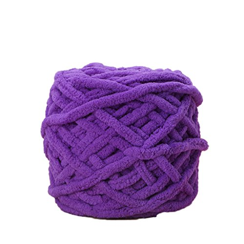 RingBuu Cotton Bulky Crochet Worested, Chunky Woven, 100g/1ball Soft Cotton Hand Knitting Yarn (13#) Giants Woven Polyester