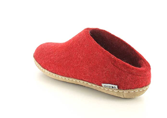 Glerups - Zapatillas de estar por casa para mujer rojo rojo, color rojo, talla 36