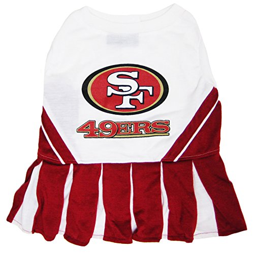 San Francisco 49ers NFL Cheerleader Dress For Dogs - Size Medium