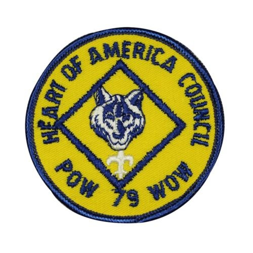 Logo patch embroidered)Boy Scouts Heart Of America Council Patch Scout Embroidered Iron On Applique + E-book with pictures Council Boy Scout Patch