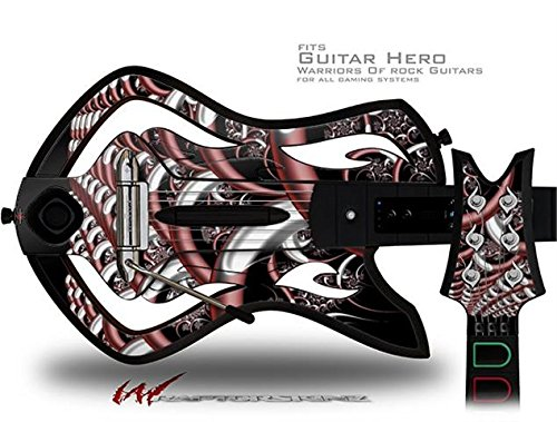Chainlink Decal Style Skin - fits Warriors Of Rock Guitar Hero Guitar (GUITAR NOT INCLUDED)