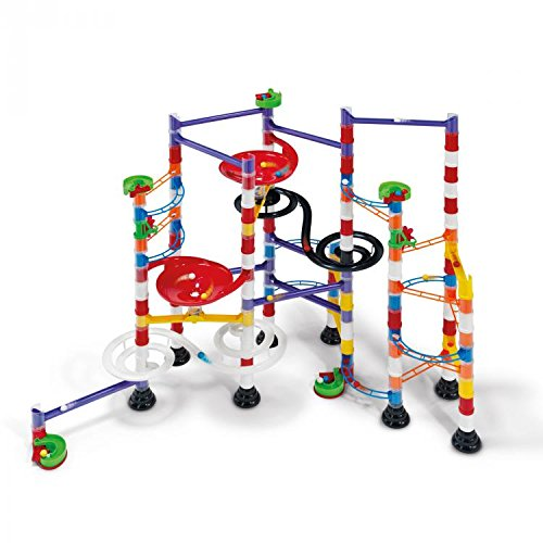 Italian Marble Column - Quercetti Super Marble Run - Italian Made - 213 Pieces - for Ages 8 and Up