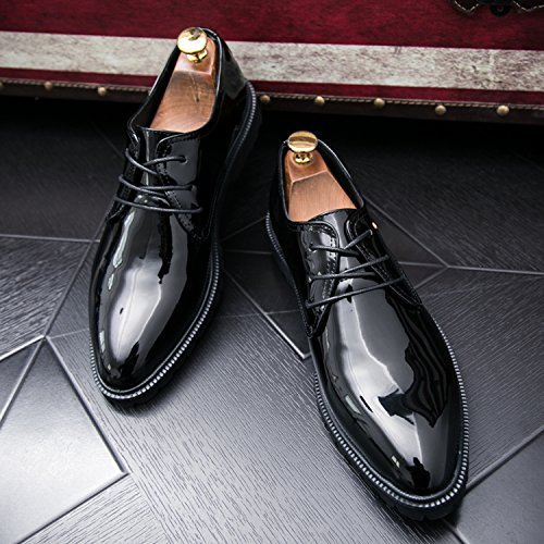 Boda Mocasines Zapatos Hombre Fiesta Formales Oxford Negro Vestir Zapatos Zapatos Cuero Clásico qqaAwgzF