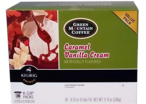 Green Mountain Coffee 36 Count K-Cup Value Pack (Caramel Vanilla Cream)