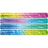 Maped Twist'n Flex Patterns Unbreakable Ruler, 30cm, Colour Will Vary (279315)