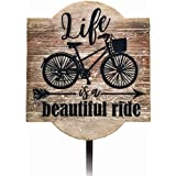 Spoontiques 21227 Beautiful Ride Garden Stake, Brown