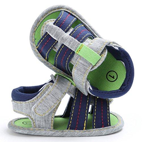 Etrack-Online Baby Sandals - Zapatos primeros pasos para niño azul oscuro