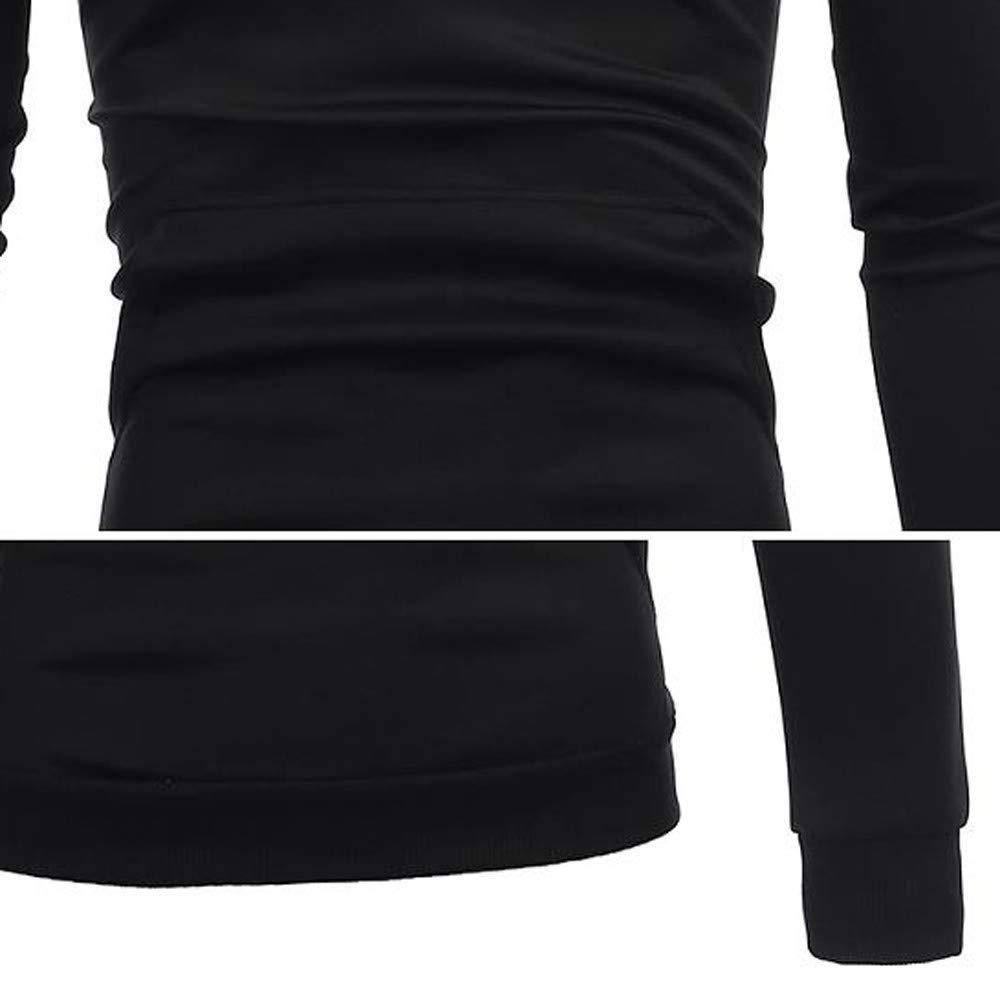 Shaoshao Mens Long Sleeve Hoodie Sweatshirt Top Tee Outwear Blouse