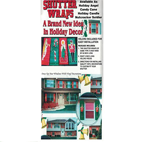 Christmas Holiday Shutter Wrap - Dress Up Your Window With Vinyl Decorations - Assorted Colors and Designs