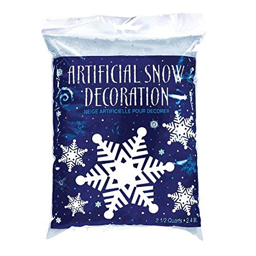 Amscan Winter Wonderland Christmas Party Snow Flurries Artificial Snow Decoration, Blue/White, 2.5 (Christmas Winter Wonderland)