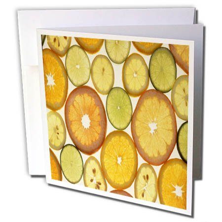 3dRose TDSwhite – Farm and Food - Food Citrus Oranges Slices Healthy - 12 Greeting Cards with Envelopes (gc_285124_2) by 3dRose