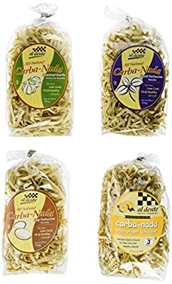Carba-Nada Low-Carb Fettuccine Pasta Variety (4-Pack) from Al Dente Pasta