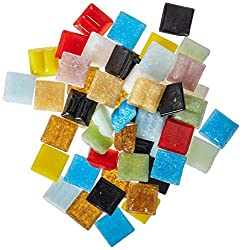 Authentic Glass Mosaic Tiles - Assorted Colors - 3/8