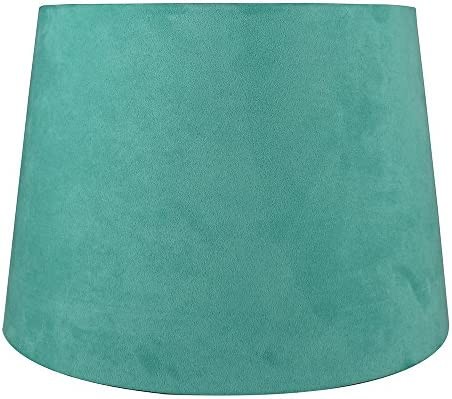 Urbanest French Drum Suede Lampshade, 10-inch by 12-inch by 8.5-inch, Turquoise