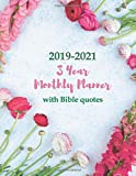 2019-2021 3 Year Monthly Planner with Bible quotes: Large Schedule Organizer for Christian Women & Men | 3 Years Agenda, One Month & One Bible Verse ... Letter Sized: 8.5 x 11 inch; 21.59 x 27.94 cm