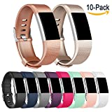 For Fitbit Charge 2 Bands, Vancle Classic Edition Adjustable Comfortable Replacement Wristbands for Fitbit Charge 2 Heart Rate (No Tracker)