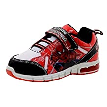 Spiderman Boy's Wall Crawler Red/Black/White Light Up Sneakers Shoes Sz: 12