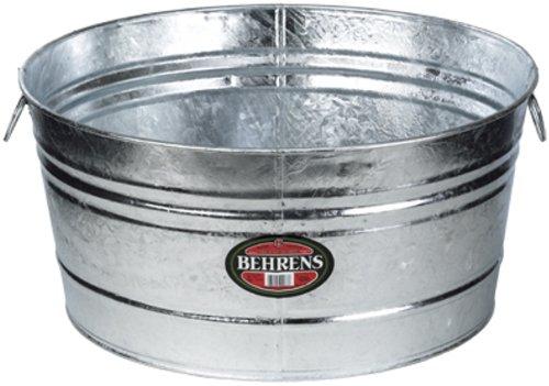 Behrens 7 35-Gallon Round Steel Tub (Planter Steel Stainless)
