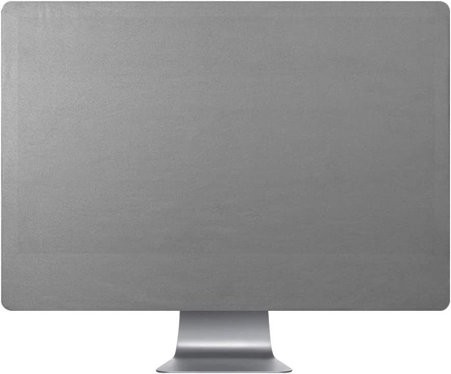 FORITO Computer Monitor Dust Cover Compatible iMac 27 Inch and iMac Pro 27 Inch All-in-Ones Desktop Waterproof and Dust-Proof and Mold-Proof Monitor Dust Cover Gray